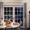 Phantom Screens for Outswing Double French Doors.  Phantom Screens are mounted on interior.
